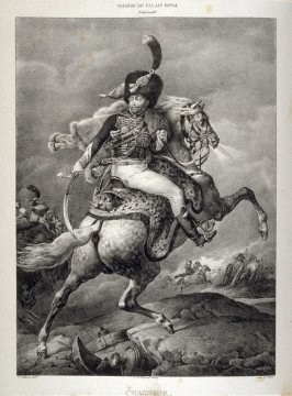 Un Officier Des Chasseurs a Cheval De La Garde Imperiale...twelfth plate in the book... Galerie lithographiée de son Altesse royale Monseigneur le Duc d' Orléans (Paris: Bureau de la Galerie … [1830?]), vol. 1