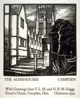 The Almshouses, Campden (Christmas Card)