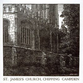 St. James Church, Chipping Campden (Christmas Card)