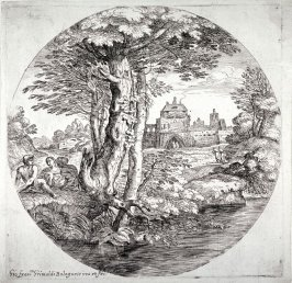 Landscape with Two Horsemen Entering a Small Fort