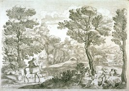 Landscape With a Horseman and Boys Playing Cards