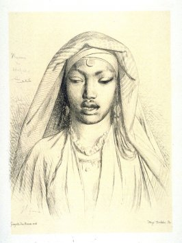 Head of a veiled woman from Hedjaz