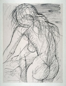 Nude Woman. back view