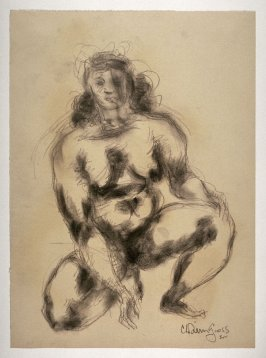 Study of Female Nude Crouching