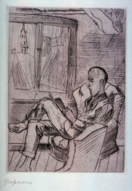 Man Reading before the Window