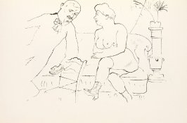 Der Besuch, drawing 11 in the book Ecce Homo (Berlin: Malik-Verlag, [1923])