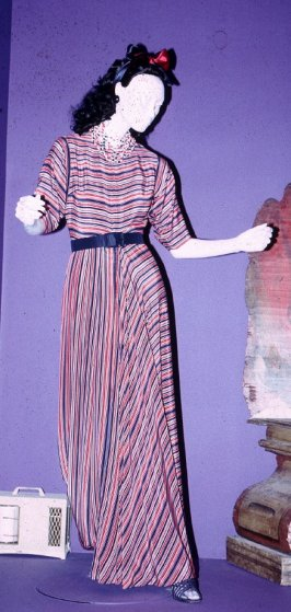 Evening at home dress with belt