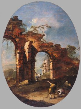 Landscape Capriccio with Figures