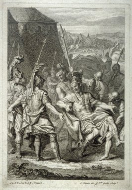 Alexander carried by his soldiers