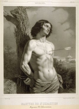 Martyre De St. Sebastien (The Martyrdom of Saint Sebastian)...forty eighth plate in the book... [Title in Russian and French] Imperatorskaya Ermitazhnaya Galereya … Galérie Impériale de l'Ermitage (Saint Petersburg: Gohier Desfontaines, 1847)