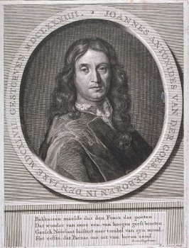 Portrait of Johannes Antonides van der Goes, poet (1647-1683)