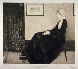 Portrait de ma mère, after James Abbott McNeill Whistler's painting Symphony in Gray