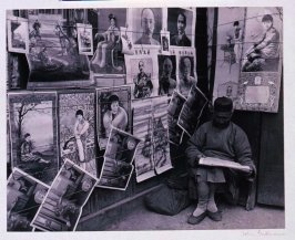 Peddler of popular prints ranging from the portraits of Chiang-Kai-Check and Sun-Yat-Sen to Chinese pin-up girls.