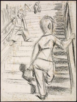 Untitled (Figures on a Staircase)