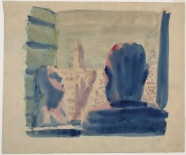 Untitled (Study of Man Looking Out Window)