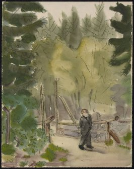 Untitled (Man Walking in a Park)