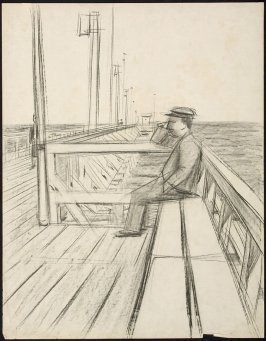 Untitled (Seated Man on a Pier, Zoppot)