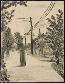 Untitled (Powerlines, Trees and Houses)