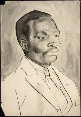 Untitled (Portrait of an African Man, Beslau Academy)