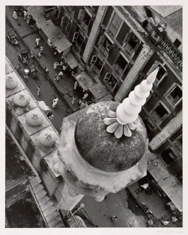 View at Chitpur Road from the minaret of the Nakhoda Mosque, Calcutta, largest Moslem edifice in Bengal.