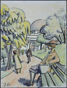 Untitled (Figures in a Park (San Francisco?))