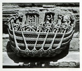 Ornamental detail of an early Hindu temple.