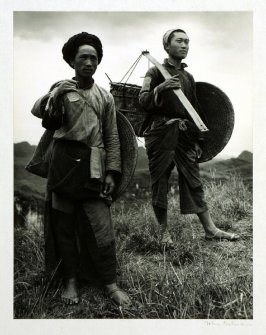 Tribesmen from the mountains near Anshun, Kweichow Province.