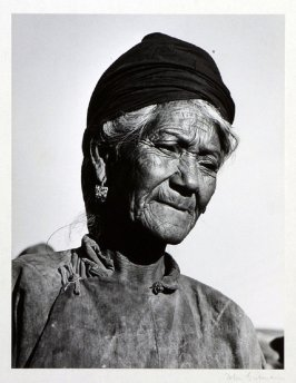 Old village woman.