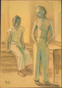 Untitled (Two Figures, One Seated, One Standing)
