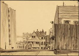 Untitled (View of San Francisco Bay through Russian Hill Houses)