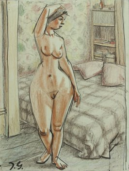 a) Untitled (Standing Female Nude)