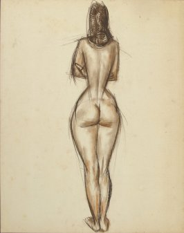 Untitled (Standing Nude Female Figure, Rear View)