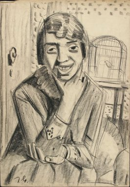 a) Woman with Cageb) Untitled (Female Portrait)
