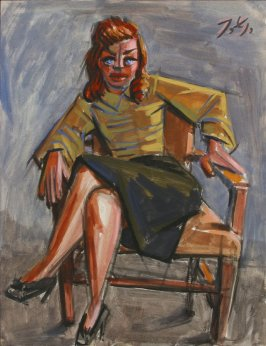 Untitled (Woman Sitting Cross-legged in a Chair)