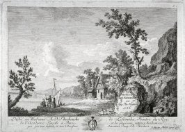 [Plate #1 from] Eight landscapes: views of Normandy dedicated to Madame A. D. Therbouche