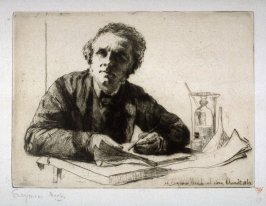 Portrait of Francis Seymour Haden (Self-Portrait with etching equipment)