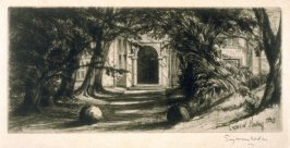 Mytton Hall - Plate XXIV from the Portfolio Études à l'eau-forte (with text by Philippe Burty)