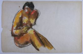 Seated Nude, Earth Tones
