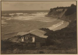 Untitled (California Coastal Scene with Cottage in Foreground)