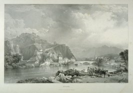 Grenoble, plate 4 in the disbound book Views in the Department of The Isère and the High Alps, Chiefly Designed to Illustrate The Memoirs of Felix Neff by Dr. Gilly. Lithographed by Louis Haghe from Sketches by the Rt. Honble. Lord Monson (London: W. H. D