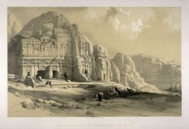 Petra, Shewing the Upper or Eastern End of the Valley - The Holy Land