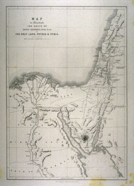 Map (the Holy Land, Petrea and Syria) - The Holy Land