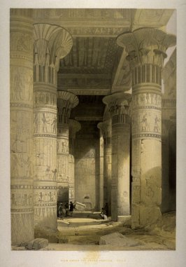 View under the Grand Portico in Philae - Egypt Vol.I Frontispiece