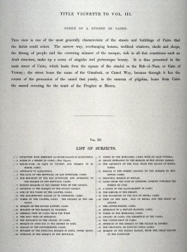 Text Page from - Egypt Vol. III (List of Subjects)