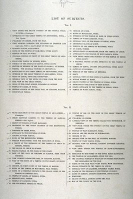 Text Page from - Egypt (List of Subjects Vol. I and II)