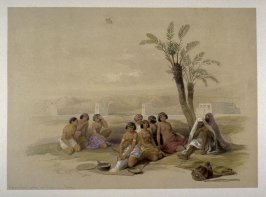 Abyssinian Slaves resting at Korti - Egypt