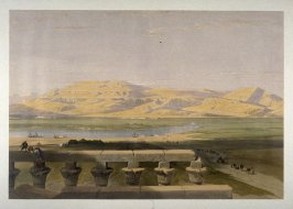 Libyan Chain of Mountains from the Temple of Luxor - Egypt
