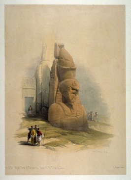 A Colossal Statue at theEntrance to the Temple of Luxor- Egypt