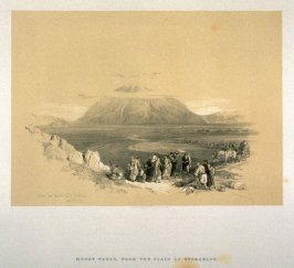 Mount Tabor, from the Plain of Esdraelon - The Holy Land