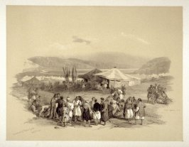 Encampment of the Pilgrims at Jericho - The Holy Land